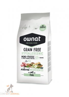 ownat grain Free hypollergenic adult porco