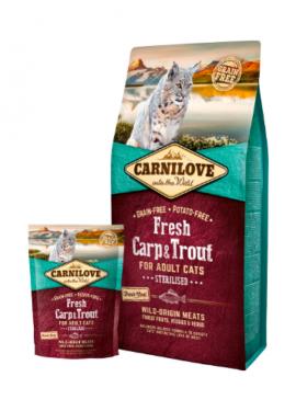 Carnilove Cat Adult Sterilised Fresh Carp & Trout