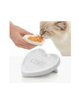 Prato coração Catit Creamy